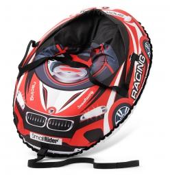 Надувные санки-тюбинг с сиденьем и ремнями Small Rider Snow Cars 3 (ВМ красный)