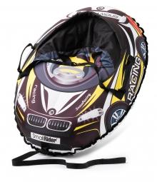 Надувные санки-тюбинг с сиденьем и ремнями Small Rider Snow Cars 3 (ВМ черно-желтый)