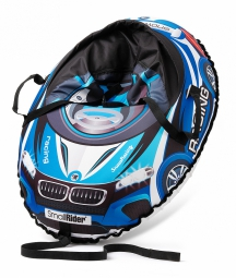 Надувные санки-тюбинг с сиденьем и ремнями Small Rider Snow Cars 3 (ВМ синий)