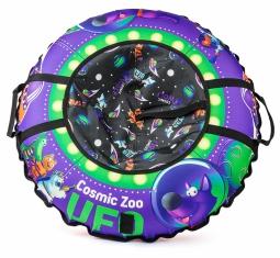 Надувные санки-ватрушка (тюбинг) Small Rider UFO (CZ) (фиолетовый волк)