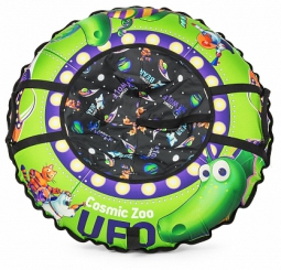 Надувные санки-ватрушка (тюбинг) Small Rider UFO (CZ) (зеленый динозаврик)