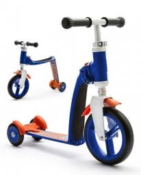 Трехколесный самокат-беговел (трансформер) Scoot&Ride Highway Baby Plus (сине-оранжевый)