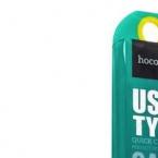 Hoco сетевая зарядка USB type-C 3.1 Золотой