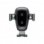 Беспроводное зарядное устройство-автодержатель Baseus Wireless Charger Gravity Car Mount (Black)