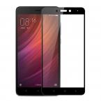 Гибкое защитное стекло для Xiaomi Redmi 4X (Черное)