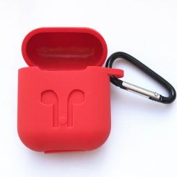 Cиликоновый чехол кейс для airpods (красный)