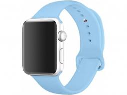 Силиконовый ремешок для Apple Watch 40/38mm, голубой