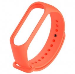 Силиконовый ремешок для Xiaomi Mi Band 5 (Оранжевый)
