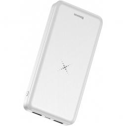 Внешний аккумулятор с беспроводной зарядкой Baseus M36 Wireless Charger Powerbank 10000mAh white