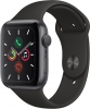 Часы Apple Watch Series 5 GPS 44mm Aluminum Case with Sport Band Space Gray / Black (Серый Космос/Черный) MWVF2