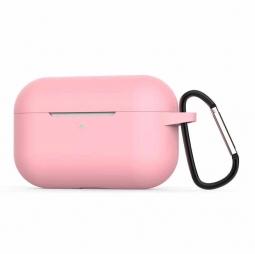 Силиконовый кейс с карабином для AirPods Pro Pink (розовый)