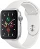 Часы Apple Watch Series 5 GPS 44mm Aluminum Case with Sport Band Silver / White (Серебристый / Белый) MWVD2