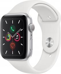 Часы Apple Watch Series 5 GPS 40mm Aluminum Case with Sport Band Silver / White (Серебристый / Белый) MWVD2