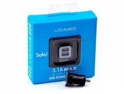 Автомобильное зарядное устройство USAMS 2.1A White