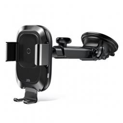 Автомобильный держатель с беспроводной зарядкой Baseus WXZN-B01 Smart Vehicle Bracket Wireless Charger (Adsorption) black