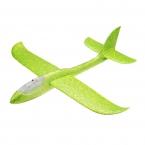 Самолет-планер с диодами из пенопласта метательный (большой) зеленый