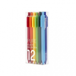 Комплект гелевых ручек Xiaomi KACO Pure Plastic Gelic Pen (12 шт)