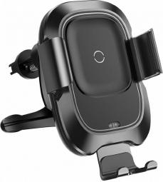 Автодержатель с беспроводной зарядкой Baseus Smart Vehicle Bracket Wireless Charger Black