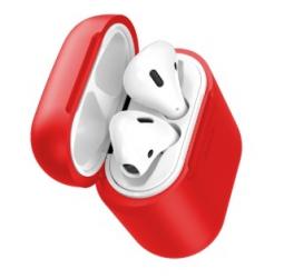 Силиконовый чехол для наушников с беспроводной зарядкой Baseus Case Wireless Charger For Airpods красный