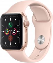 Часы Apple Watch Series 5 GPS 44mm Aluminum Case with Sport Band Gold/Pink Sand золотистые/розовый песок MWVE2