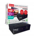 ТВ-тюнер/ресивер D-COLOR DC600HD, черный