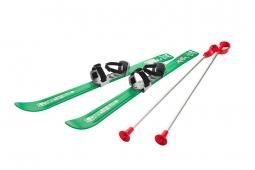 Детские лыжи с палками и креплениями Gismo Riders Baby Ski, 90 см (Чехия) (зеленый)