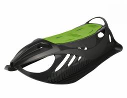 Детские пластиковые санки Gismo Riders Neon Grip (Чехия) (черно-зеленый)