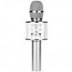 Беспроводной Bluetooth караоке микрофон со встроенным динамиком Hoco BK3 silver