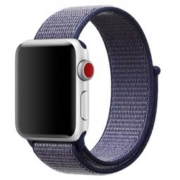 Нейлоновый ремешок на липучке для Apple Watch 42/44 mm фиолетовый