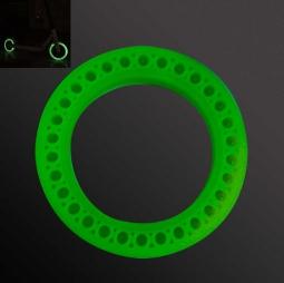 Литая светящаяся флуоресцентная покрышка для электросамоката Xiaomi Mijia Electric Scooter M365, M187 с отверстиями (зеленый)