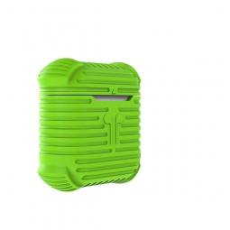 Силиконовый чехол для AirPods i-Smile Silicone Protective Case зеленый