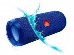 Беспроводная акустика JBL Flip 4 Blue (Синяя)