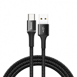 Кабель Baseus halo data cable USB For Type-C 3A 1M Black