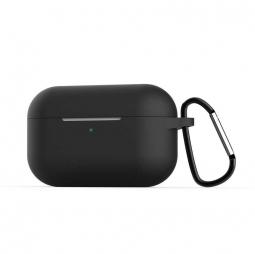 Силиконовый кейс с карабином для AirPods Pro Black (Черный)