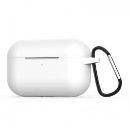 Силиконовый кейс с карабином для AirPods Pro White (белый)