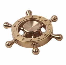 Металлический латунный cпиннер штурвал - Brass Wheel Spinner Gold
