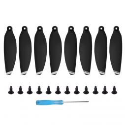 Лопасти для DJI Mini 1/2 4 пары (черные, белые полосы)