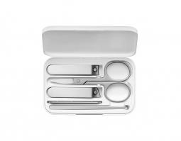 Маникюрный набор Xiaomi Nail Clipper Five Piece Set, белый/серебристый, 5 предметов
