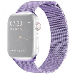 Металлический ремешок Milanese loop 42мм\ 44мм для Apple фиолетовый