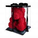Мишка из роз красный 40см + подарочная коробка