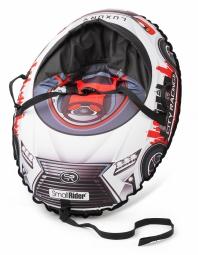 Надувные санки-тюбинг с сиденьем и ремнями Small Rider Snow Cars 3 (LX-красный)