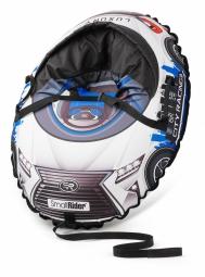 Надувные санки-тюбинг с сиденьем и ремнями Small Rider Snow Cars 3 (LX-синий)