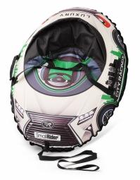 Надувные санки-тюбинг с сиденьем и ремнями Small Rider Snow Cars 3 (LX-зеленый)