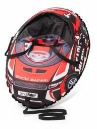Надувные санки-тюбинг с сиденьем и ремнями Small Rider Snow Cars 3 (Сафари красный)