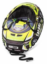 Надувные санки-тюбинг с сиденьем и ремнями Small Rider Snow Cars 3 (Сафари зеленый)