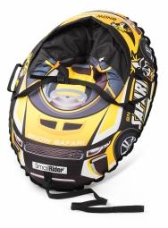 Надувные санки-тюбинг с сиденьем и ремнями Small Rider Snow Cars 3 (Сафари желтый)