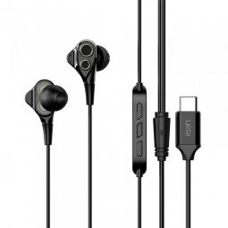 Наушники UiiSii С8 Dual Dynamic Drivers Type-C Earphone black