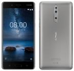 Смартфон Nokia 8 64GB Dual (4GB RAM) TA-1004 Silver (Матовый стальной)