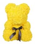 Мишка из роз желтый 40см + подарочная коробка