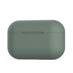 Силиконовый кейс для AirPods Pro Usams Green (Темно-зеленый)